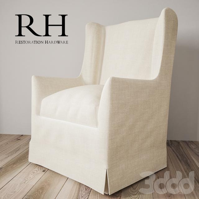 3d Modeli Kresla Restoration Hardware Wingback Chair