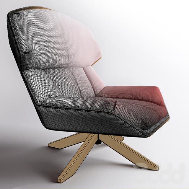 3d clarissa moroso armchair. Black Bedroom Furniture Sets. Home Design Ideas
