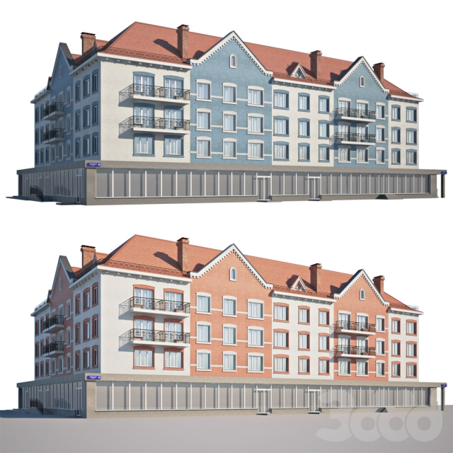 Фасад малоэтажное здание
