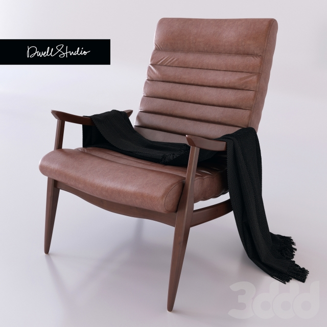 3d модели Кресла Hans Armchair By Dwellstudio