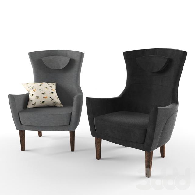 3d модели Кресла Ikea Armchair Stockholm