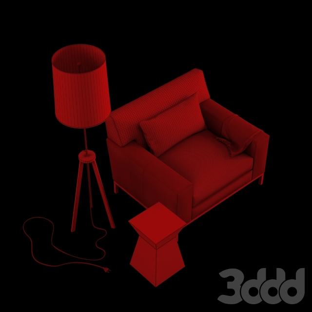 3d модели Кресла Christian Liaigre Furniture Set