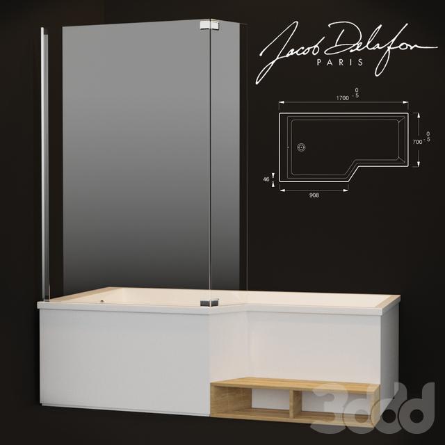 3d модели ванна Jacob Delafon Bain Douche Neo