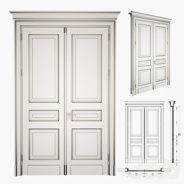 Classic Double Door + 2D DWG File  sc 1 st  3ddd & 3d ??????: ????? - Classic Double Door + 2D DWG File