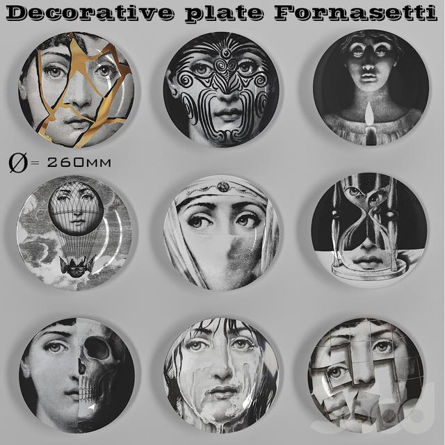 Decorative plate Fornasetti