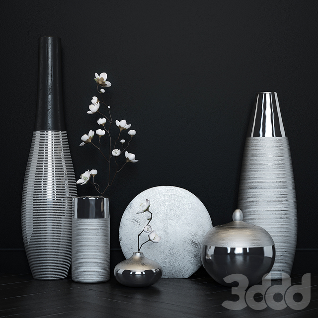 3d maisons du monde vase set. Black Bedroom Furniture Sets. Home Design Ideas