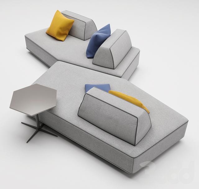 3d Modeli Divany Pentagonal Sofa Art Nova