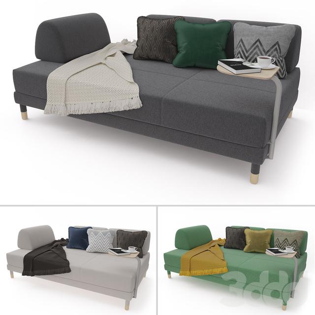 3d модели диваны диван кровать Ikea Flottebo