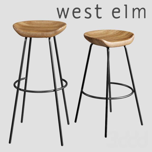 Miraculous 3D Modeli Stulya West Elm Alden Bar Counter Stools Alphanode Cool Chair Designs And Ideas Alphanodeonline