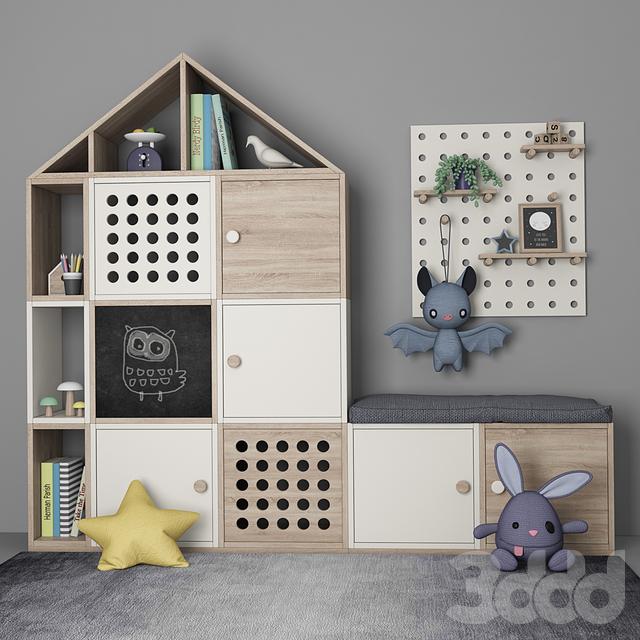 Мебель для детской комнаты с декором 10