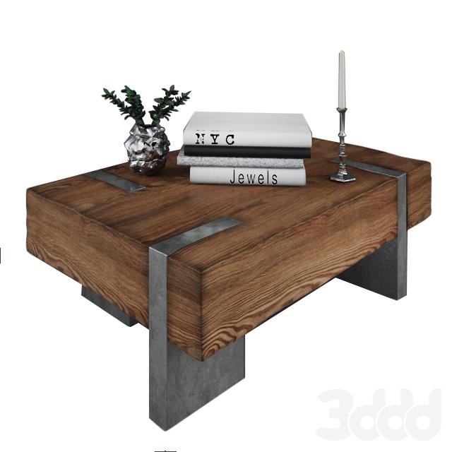3d модели столы журнальный столик из дерева и металла