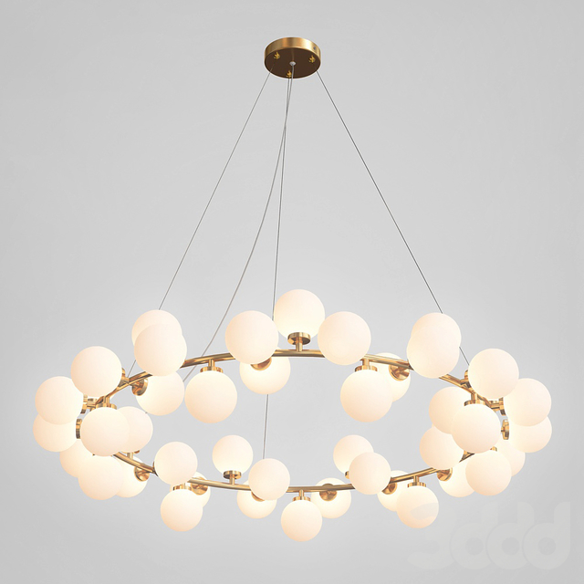 Milk Bubble Round Chandelier