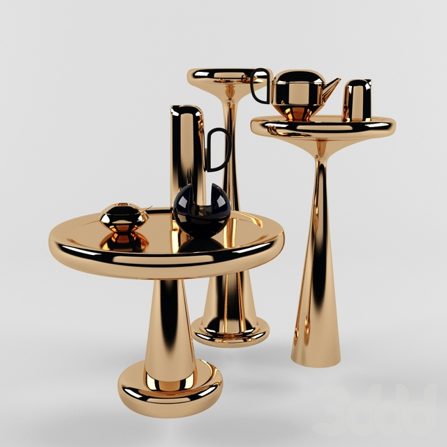 Tom Dixon Spun Tables Set