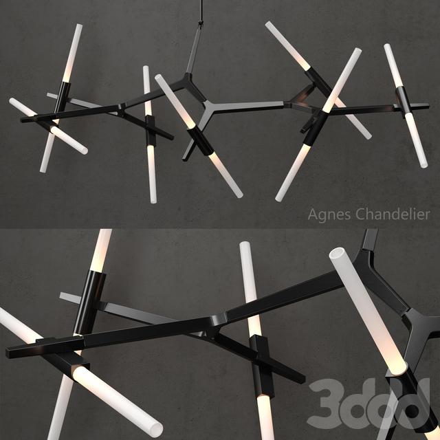 Agnes Chandelier 14 lights BLACK