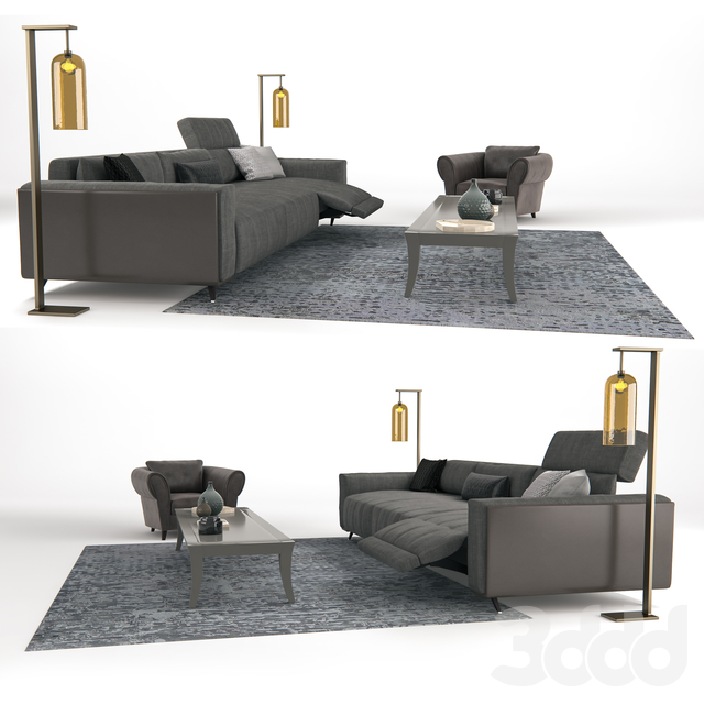 3d модели Другое Roche Bobois Confidence Sofa