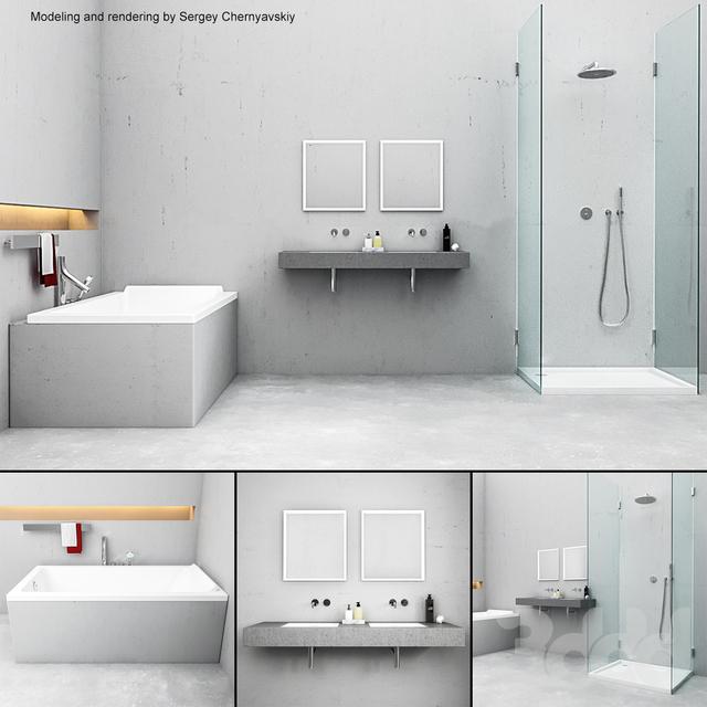 Bathroom furniture set ME by Starck Duravit