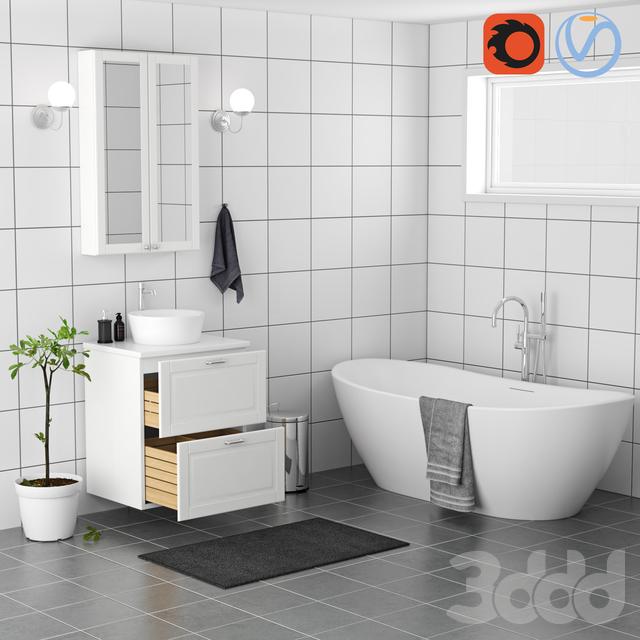 3d модели мебель набор мебели для ванной комнаты икеа
