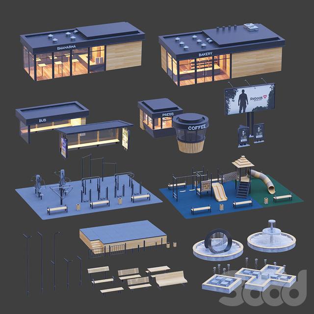 Набор элементов городского стиля