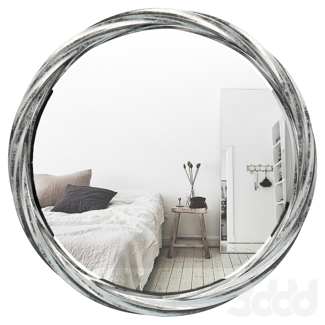 3d модели Зеркала Round Silver Accent Mirror Rbrs7771