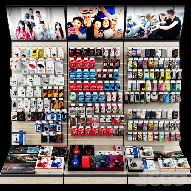 8fb8712dcde4 3d модели: Магазин - Магазин аксессуаров для мобильных телефонов