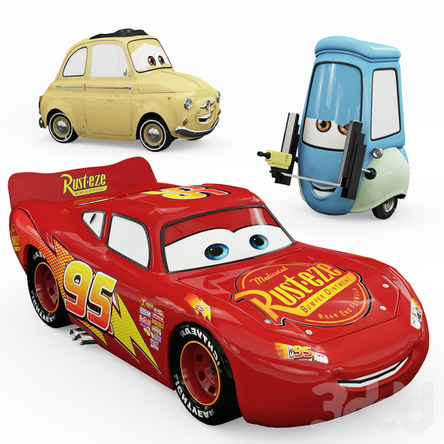 "Toys ""Cars"" Lightning McQueen, Guido"