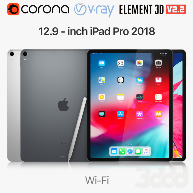 Apple iPad Pro 12.9 inch Wi-Fi 2018 and New Apple Pencil