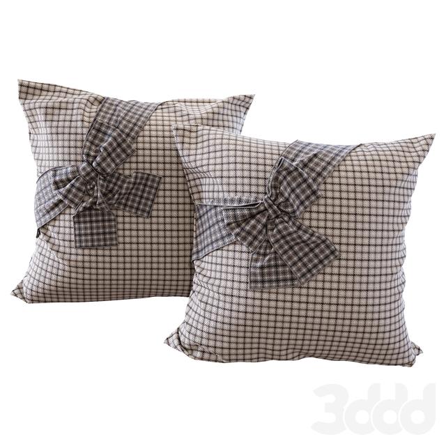 Клетчатые подушки с бантами (Plaid pillows with bows YOU)