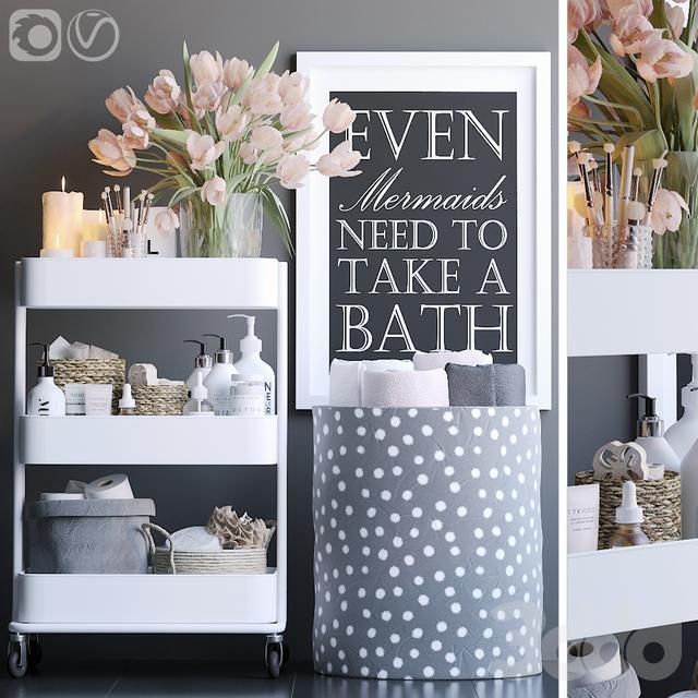 Стеллаж в ванную 9