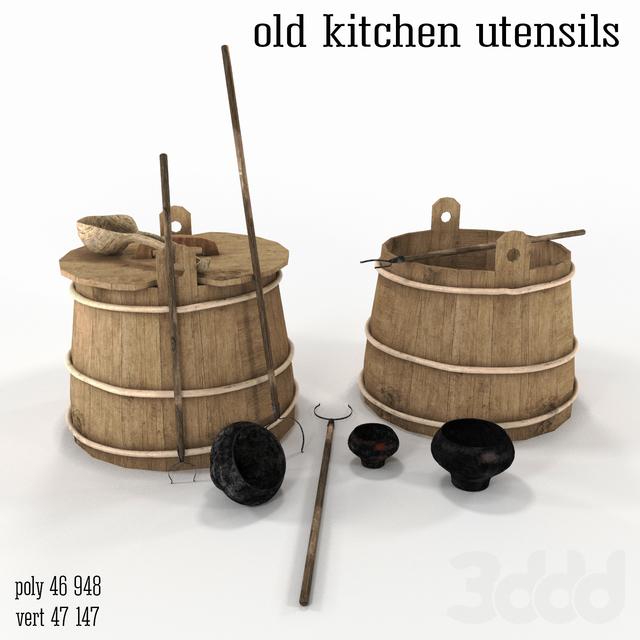 old kitchen utensils