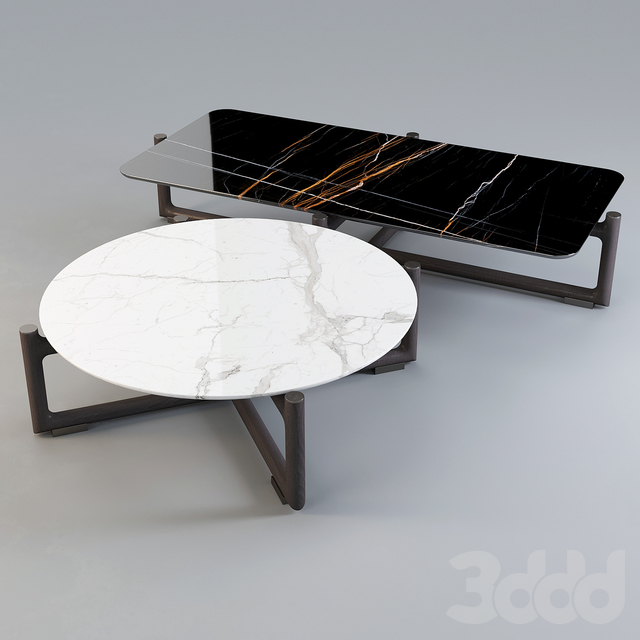 Mood by Flexform: Coffee Table - Icaro Set-02