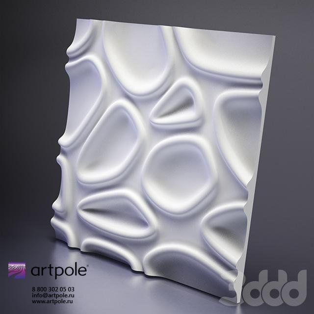 Гипсовая 3d панель  CAPSUL от Artpole