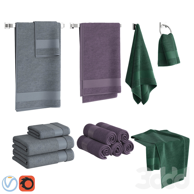 Color Towels Set