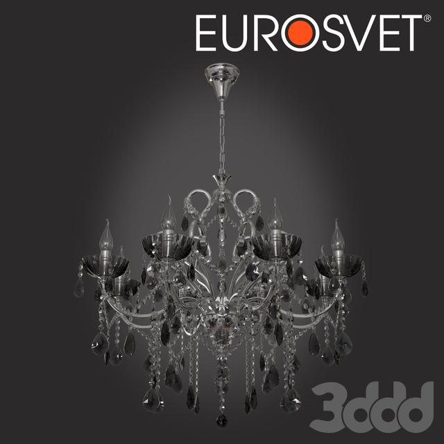 ОМ Люстра с тонированным хрусталем Eurosvet 3108/8 хром Keira