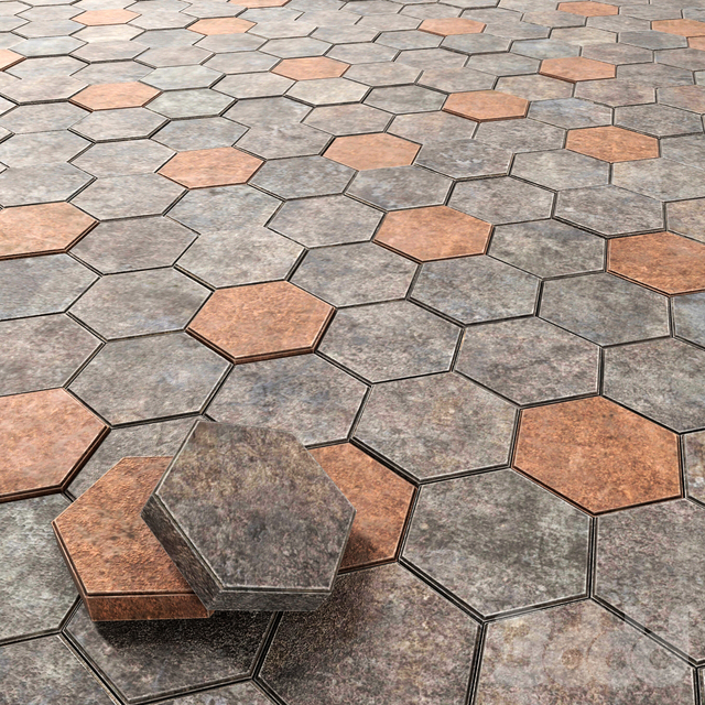 Paving hexagon / Шестиугольная брусчатка