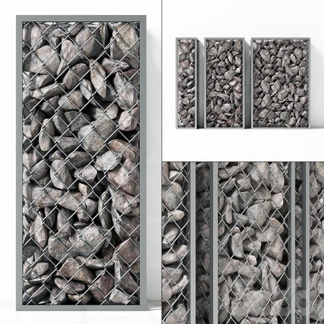 Small Gabion stone rockl / Малые габионы с камнями