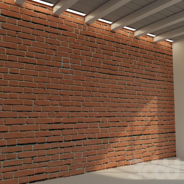 Кирпичная стена. Старый кирпич. 68