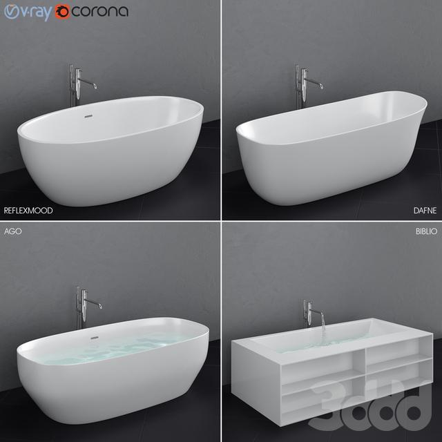 Набор отдельностоящих ванн Antoniolupi set 45 (Ago, Biblio, Dafne, Reflexmood)