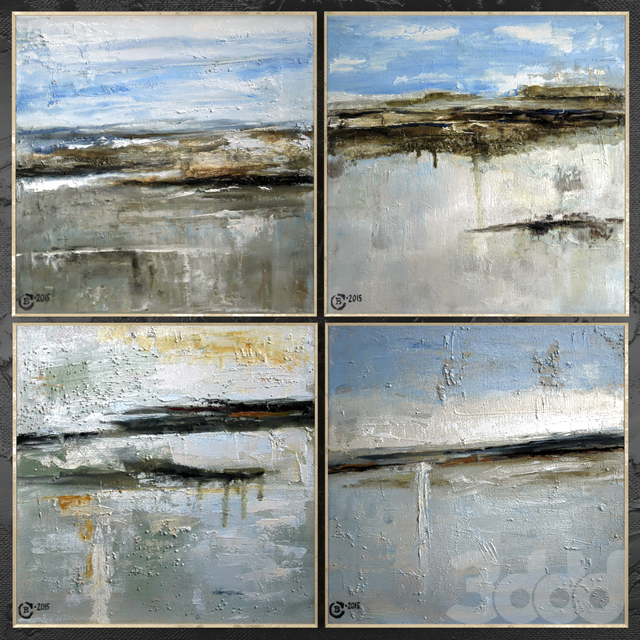 Paintings abstract   set 411