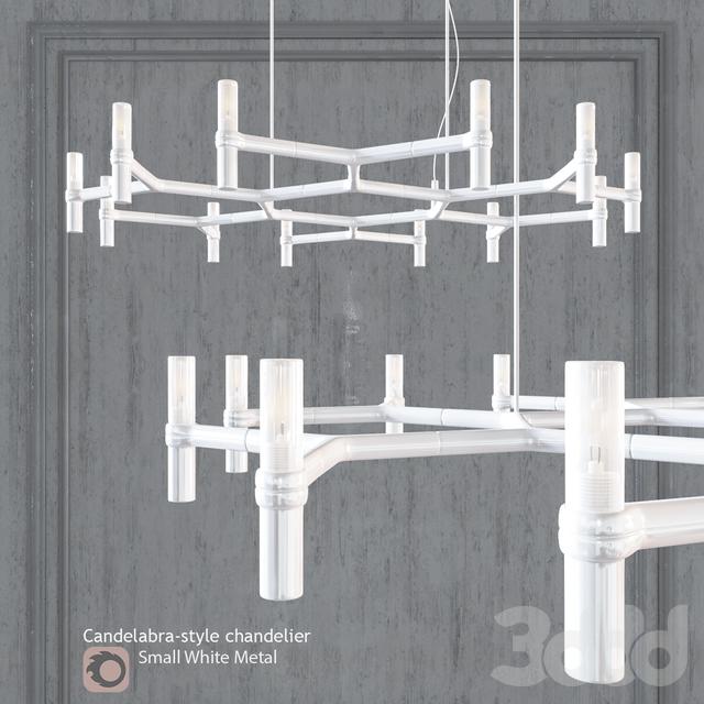 Люстра EQUINOX CHANDELIER Small White Metal