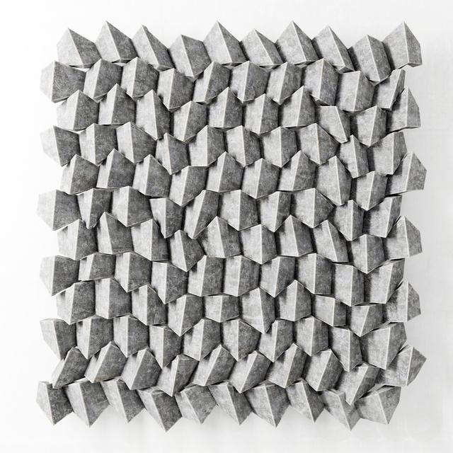 """Панель световая """"Уголки"""" из бетона /  Panel light angle concrete"""
