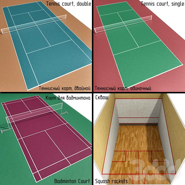 Корт: теннис, бадминтон, сквош