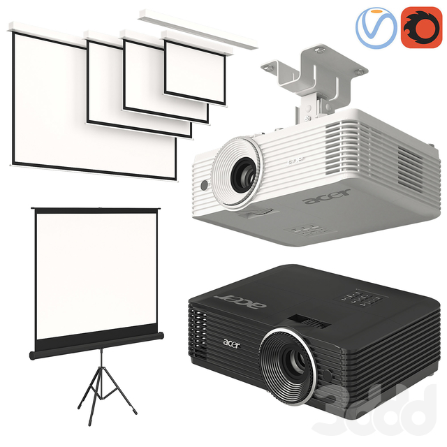 Projector Acer with Screens Set