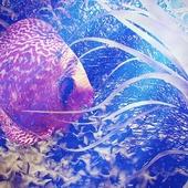 Внутри аквариума.