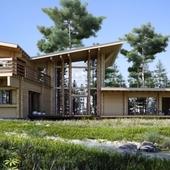 Экстерьерная визуализация деревян. дома