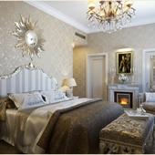 Спальня для конкурса интерьеров с камином Dimplex
