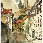 Прага. Акварель.