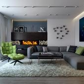 Гостиная (Дизайн квартиры в Новосибирске)