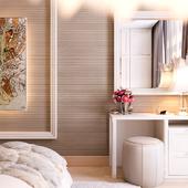 Спальная комната светлая и мягкая