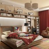 Спальня с камином :)
