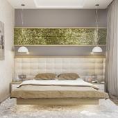 "Спальня из квартиры ""Контраст-нюанс-аналогия"""